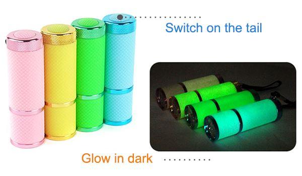 Infapower 9 LED Glow In The Dark Torch Rubber Grip Lanyard Kids Gift