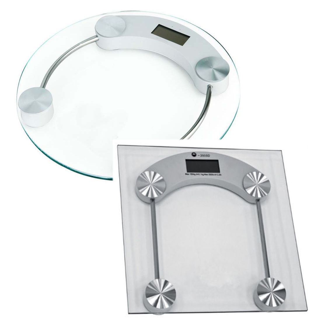180 KG Digital Electronic Personal Scale Glass LCD ...