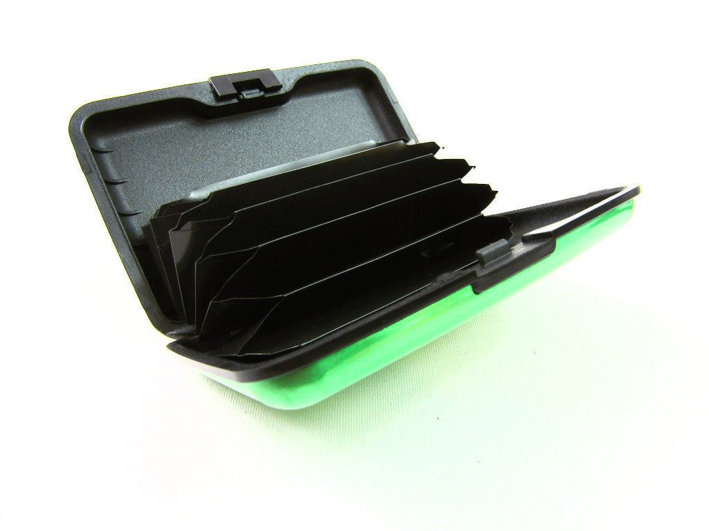 RFID Scan protetti in alluminio porta carte di credito wallet Sicurezza Custodia Rigida Bank