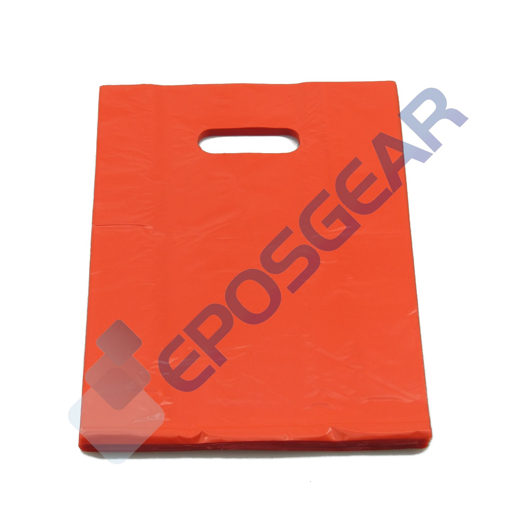 1000 Small Red Punch Out Handle Gift Fashion Party Market Plastic Carrier Bags