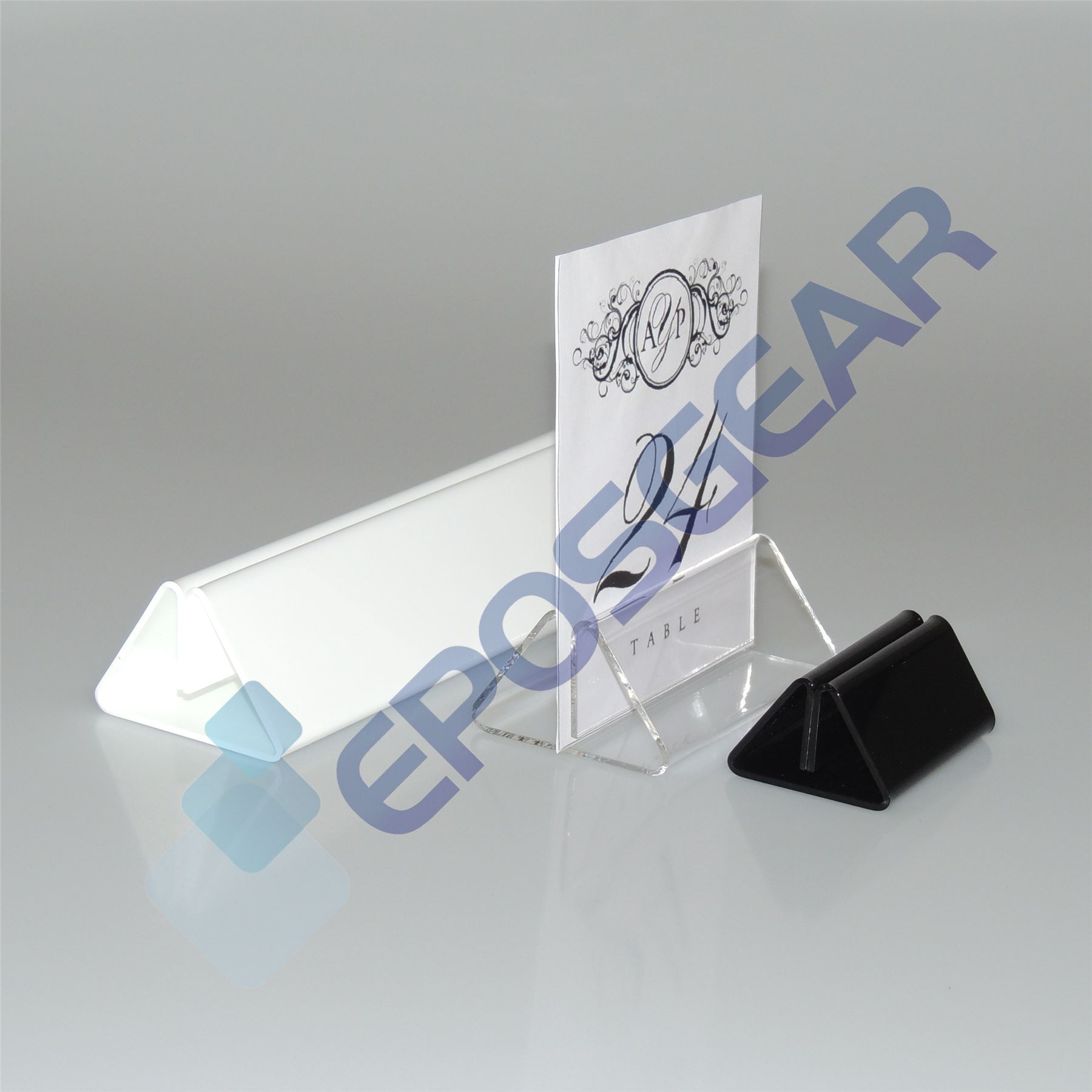 10 100mm Black Menu Card Showcard Name Place Table Setting Display Stand Holders
