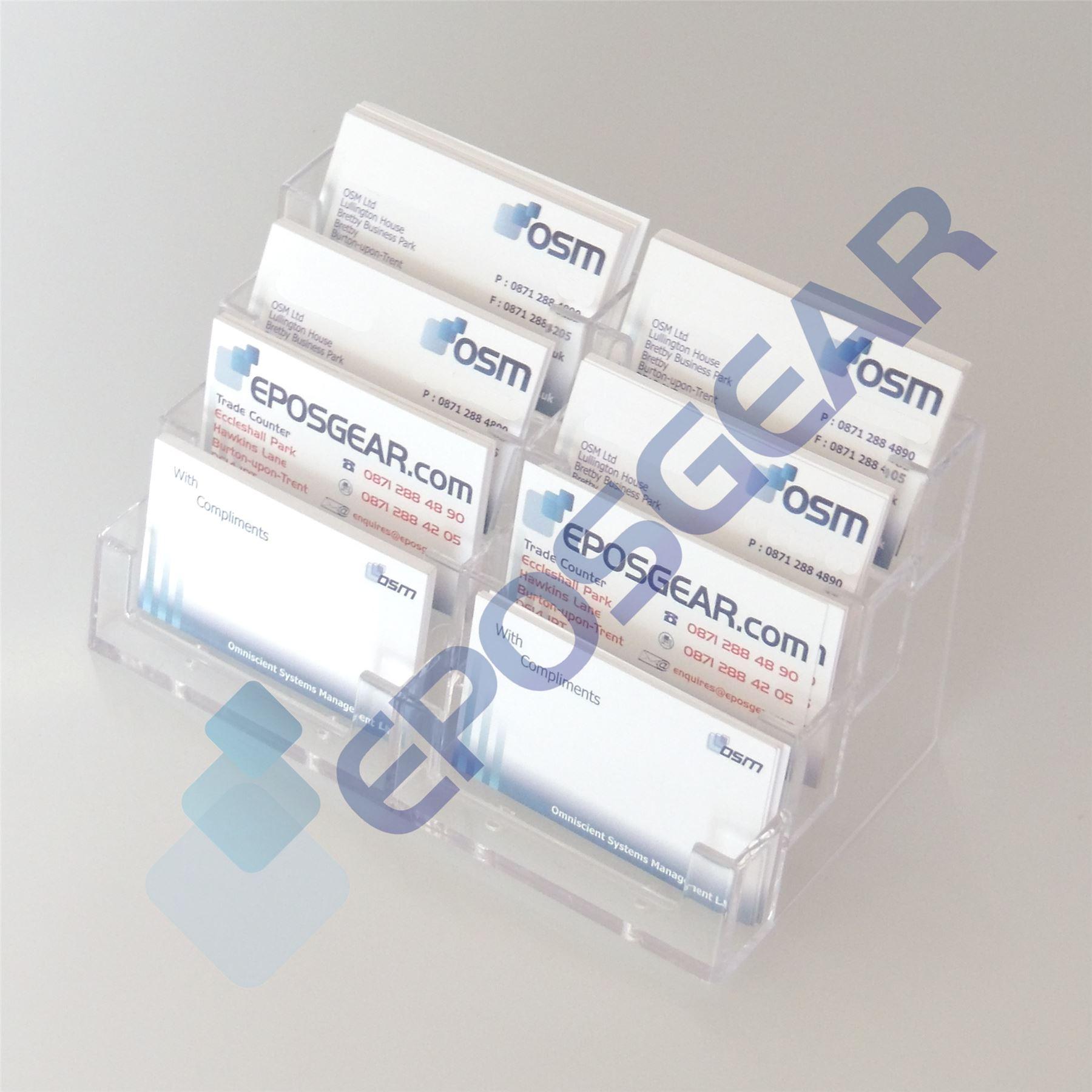 148 bay acrylic desktop business card display counter dispenser item specifics reheart Gallery