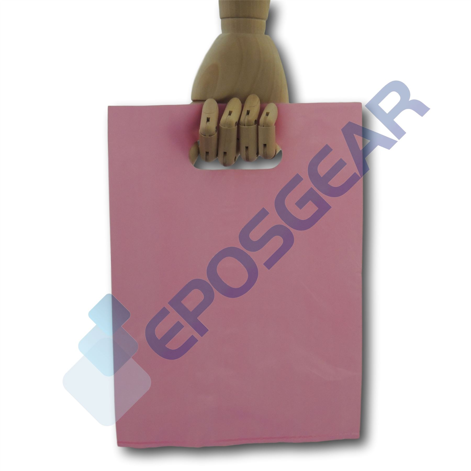 Small-Coloured-Punch-Out-Handle-Gift-Fashion-Party-Market-Plastic-Carrier-Bags