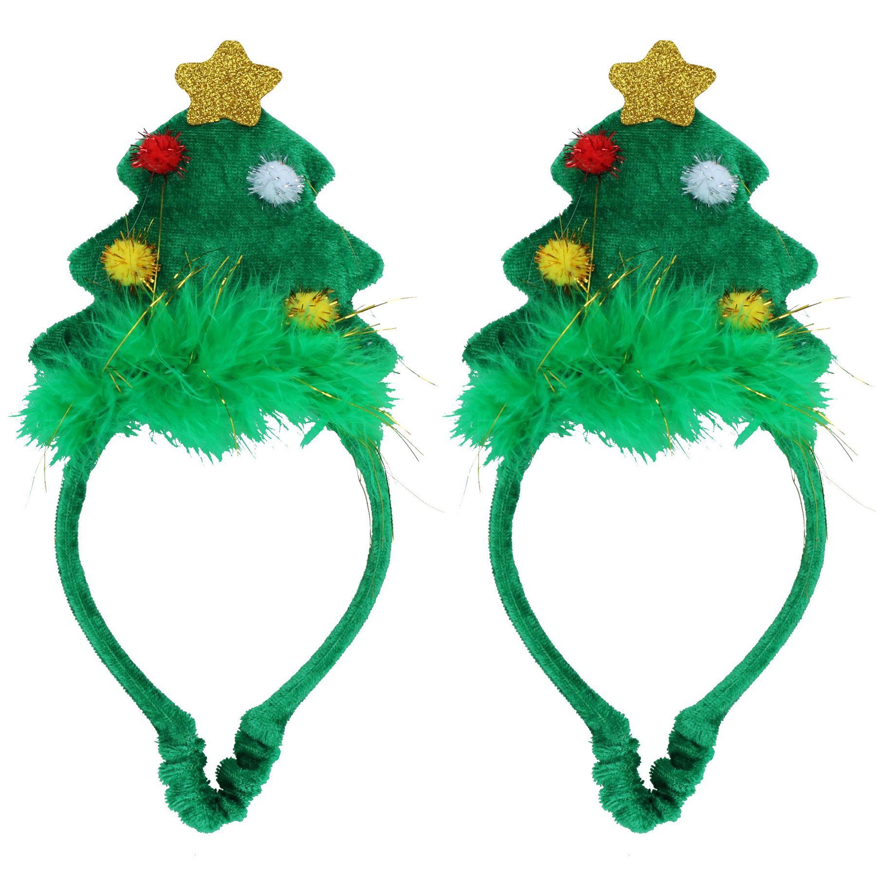 miniatuur 13 - 3PK Dog Humorous Novelty Christmas Headband - 2 SIZES/3 DESIGNS
