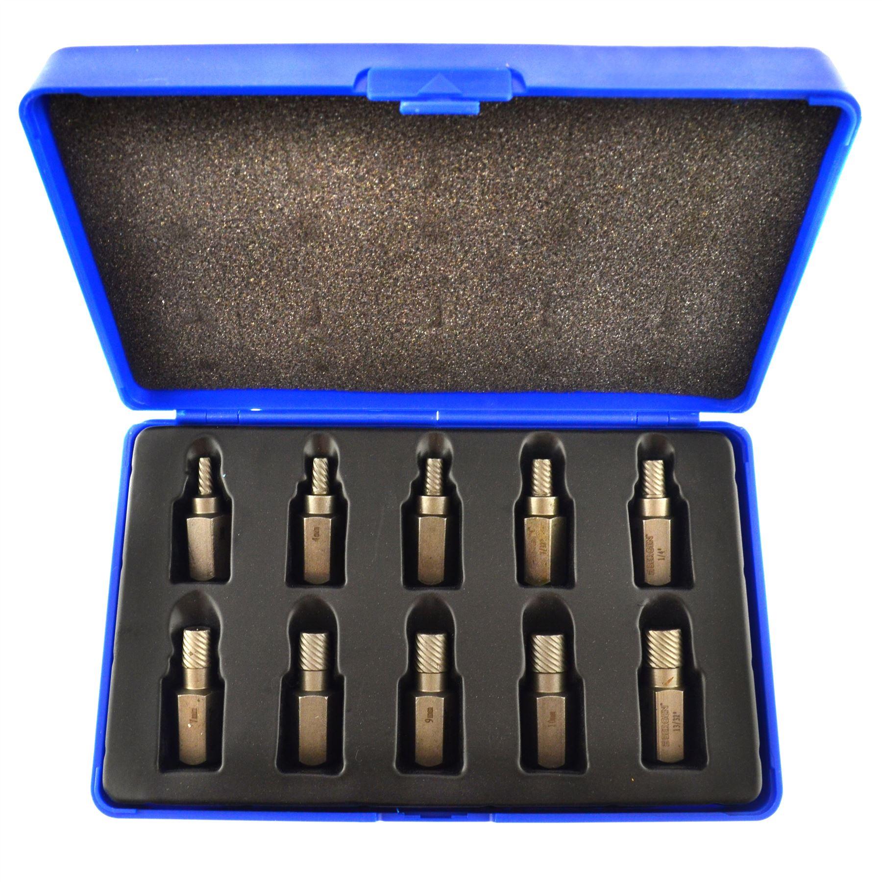 1 2 schraube bolzenabziehers set linksgewinde 3 bis 11mm 10pc ebay. Black Bedroom Furniture Sets. Home Design Ideas
