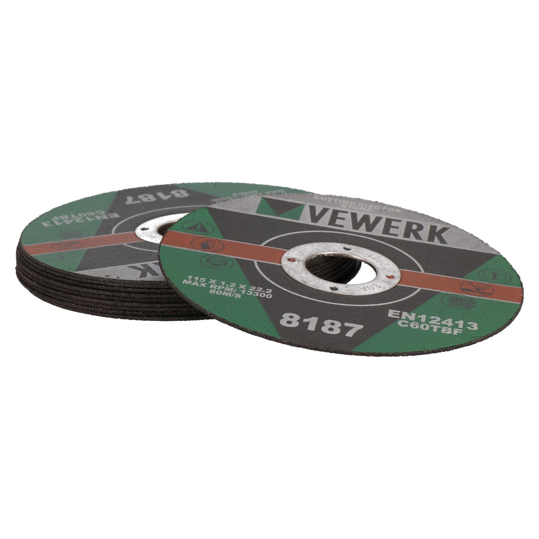 "Thin Stone Concrete Cutting Discs for 4-1/2"" Angle Grinders 115mm x 1.2mm"