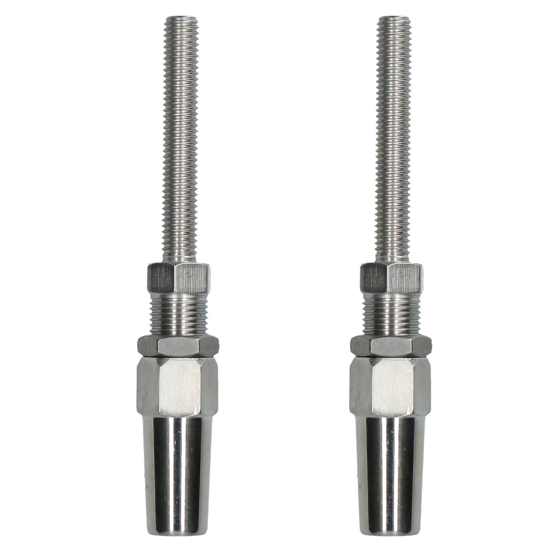 6mm Câble fil gréement corde Terminal Swageless goujon  inoxydable Montage 2 PK  brand on sale clearance