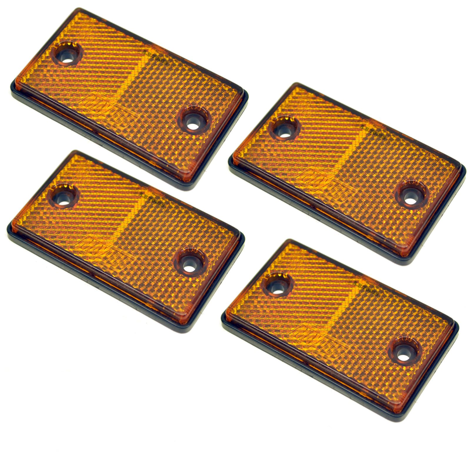 Red-Amber-White-Reflector-Packs-for-Trailers-Fence-Gate-Posts-Round-Large thumbnail 7