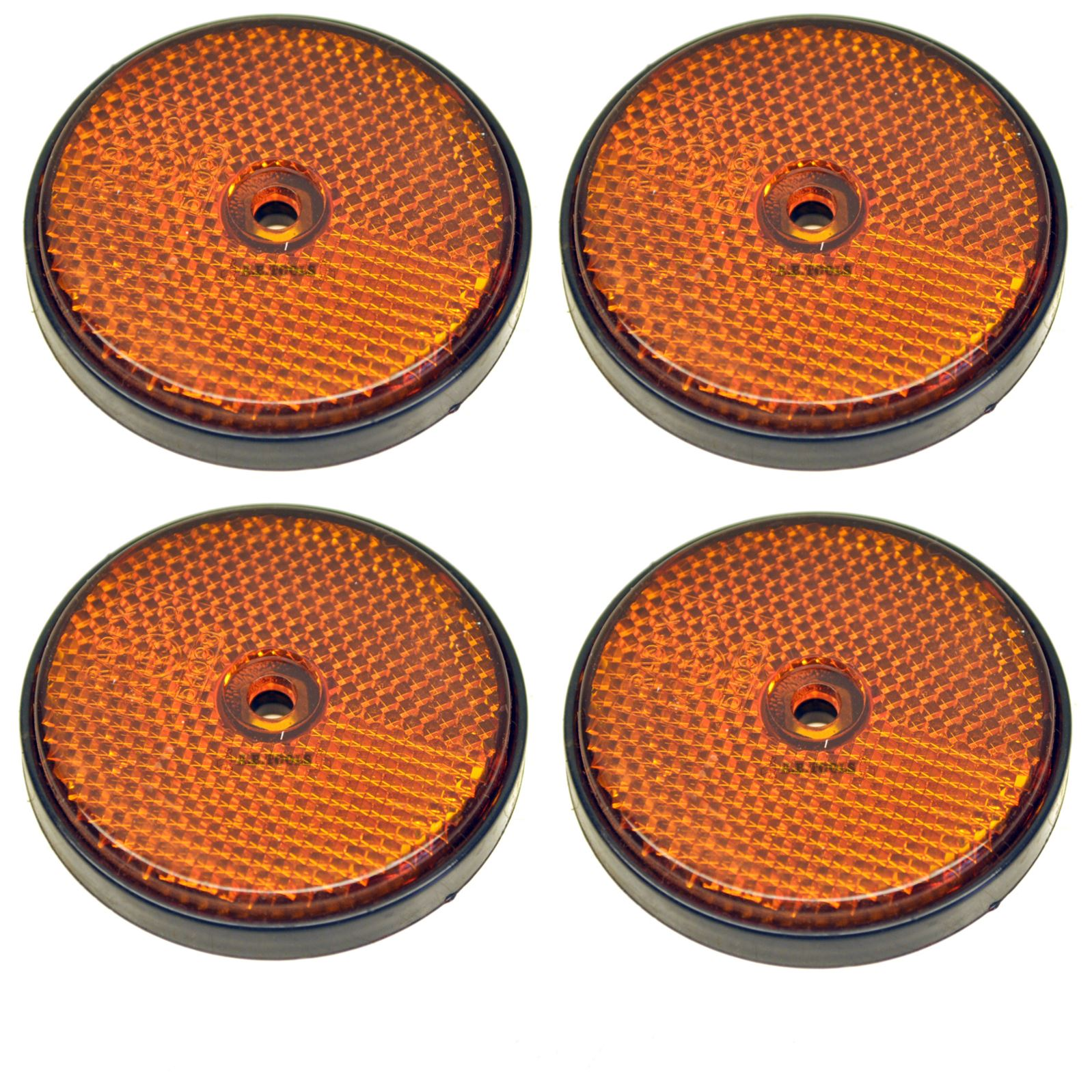 Red-Amber-White-Reflector-Packs-for-Trailers-Fence-Gate-Posts-Round-Large thumbnail 4