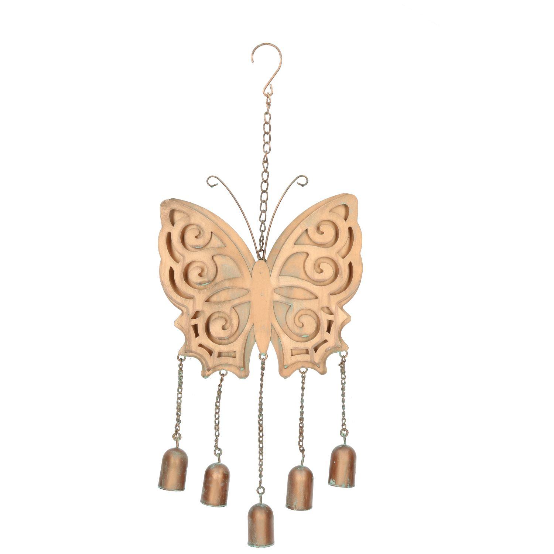 Alerte Papillon Wind Chime Bell Hanging Garden Yard Ornement Décoration Métal Home-afficher Le Titre D'origine