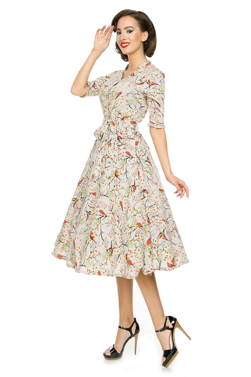 Ladies Rockabilly 1940\'s 1950\'s Retro Vintage Tea Shirt Swing Dress ...