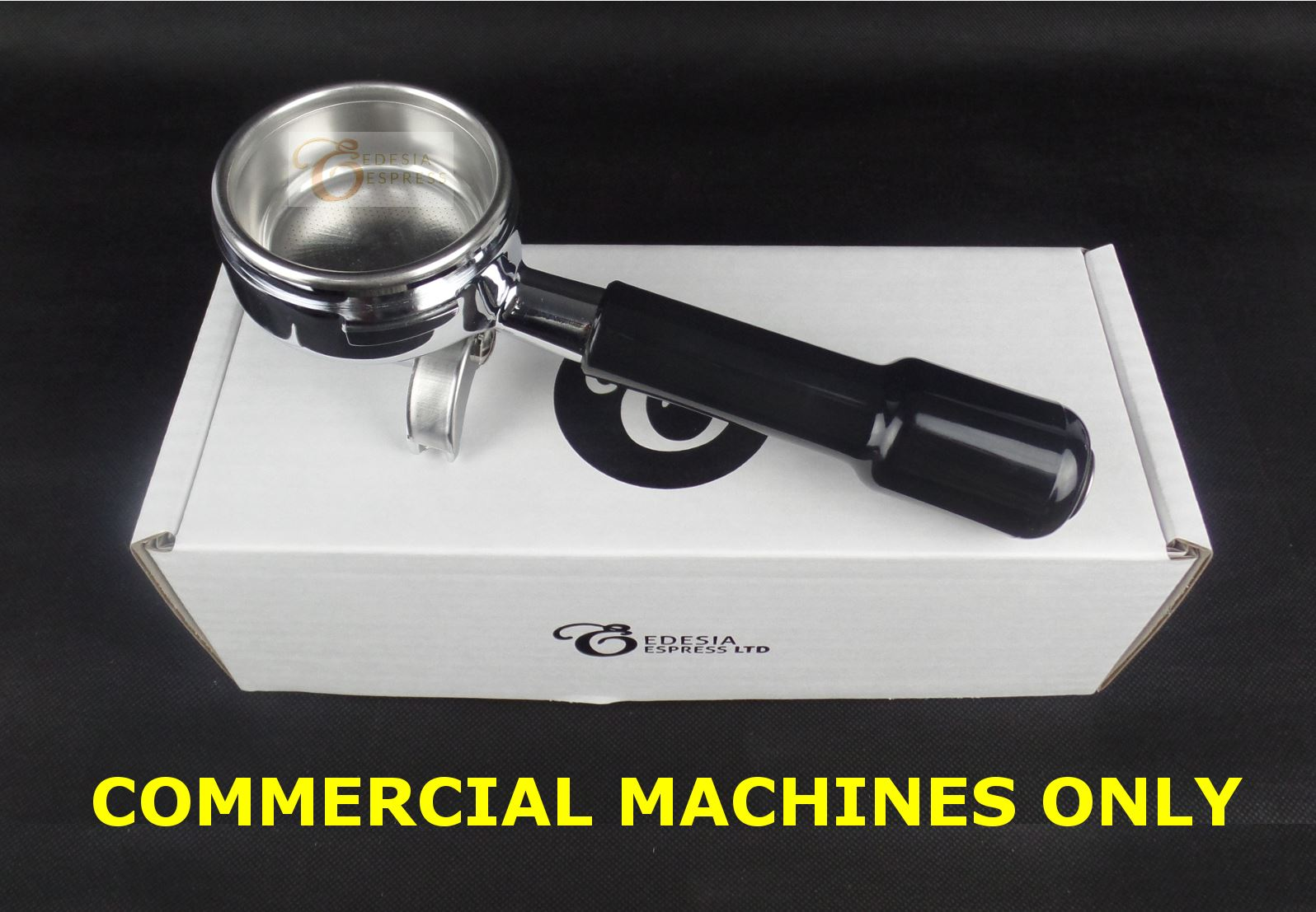 Double spout to fit most commerical espresso machines portafilter handle