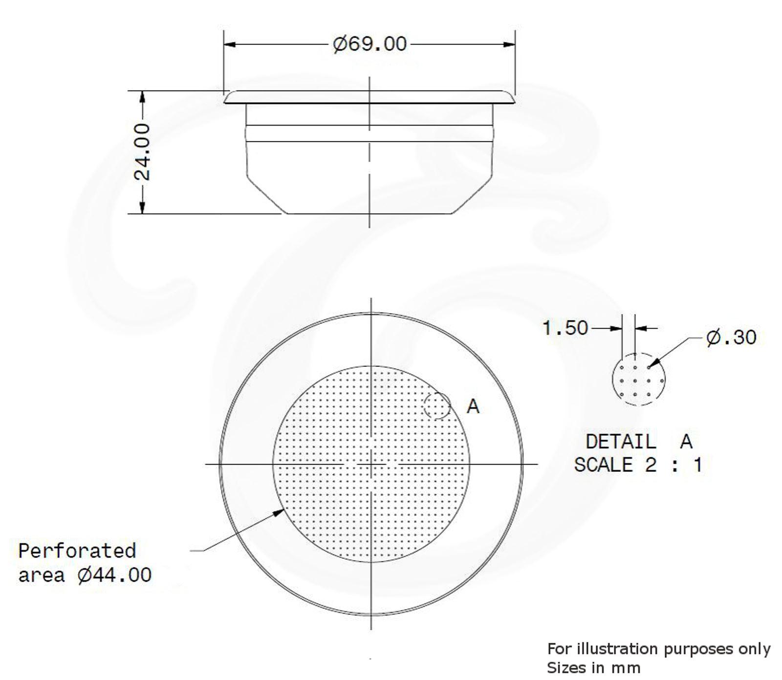 Faema E61 14g Double Shot Replacement Portafilter Basket Coffee Espresso Machine Diagram