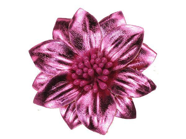 Metallic hot pink flower hair clip slide hair accessories uk metallic hot pink flower hair clip slide hair accessories uk mightylinksfo