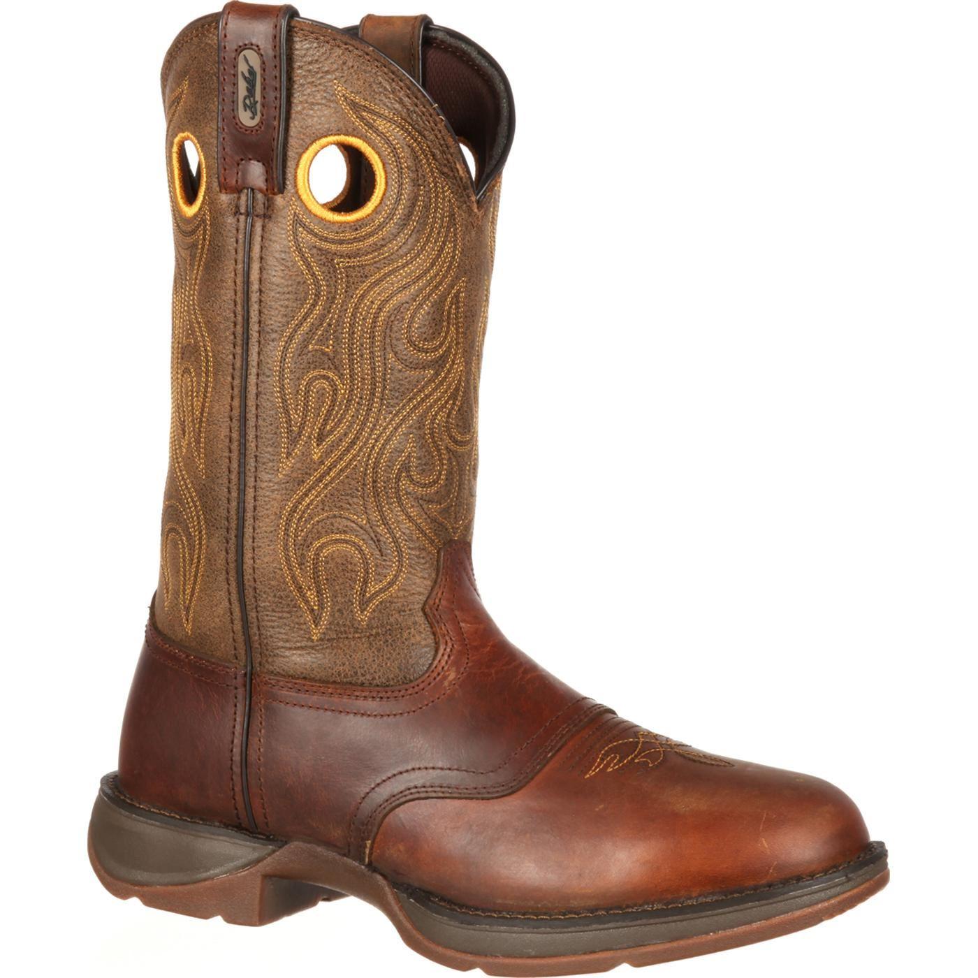 Rebel by Durango Men's Brown Saddle Western Boot
