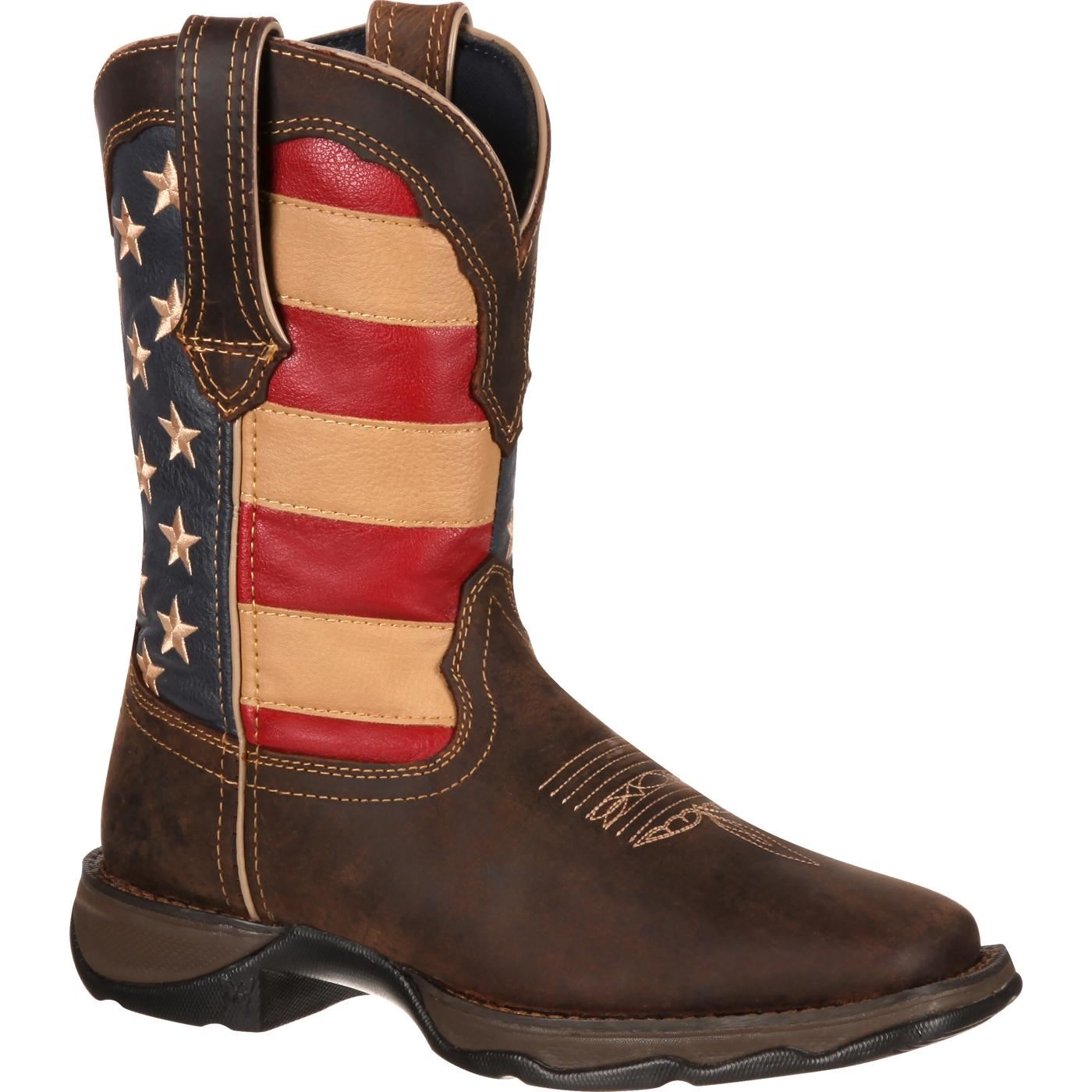 Lady Rebel Pull-On by Durango Patriotic Pull-On Rebel Western Flag Boot da57b5