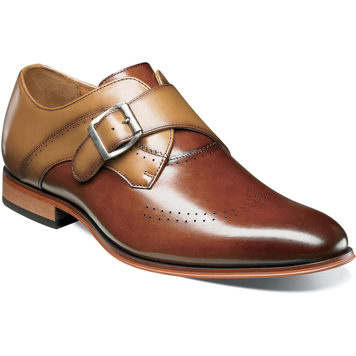 Stacy Stacy Stacy Adams Uomo Saxton Perf Wingtip Monk Strap (25178) 977c89