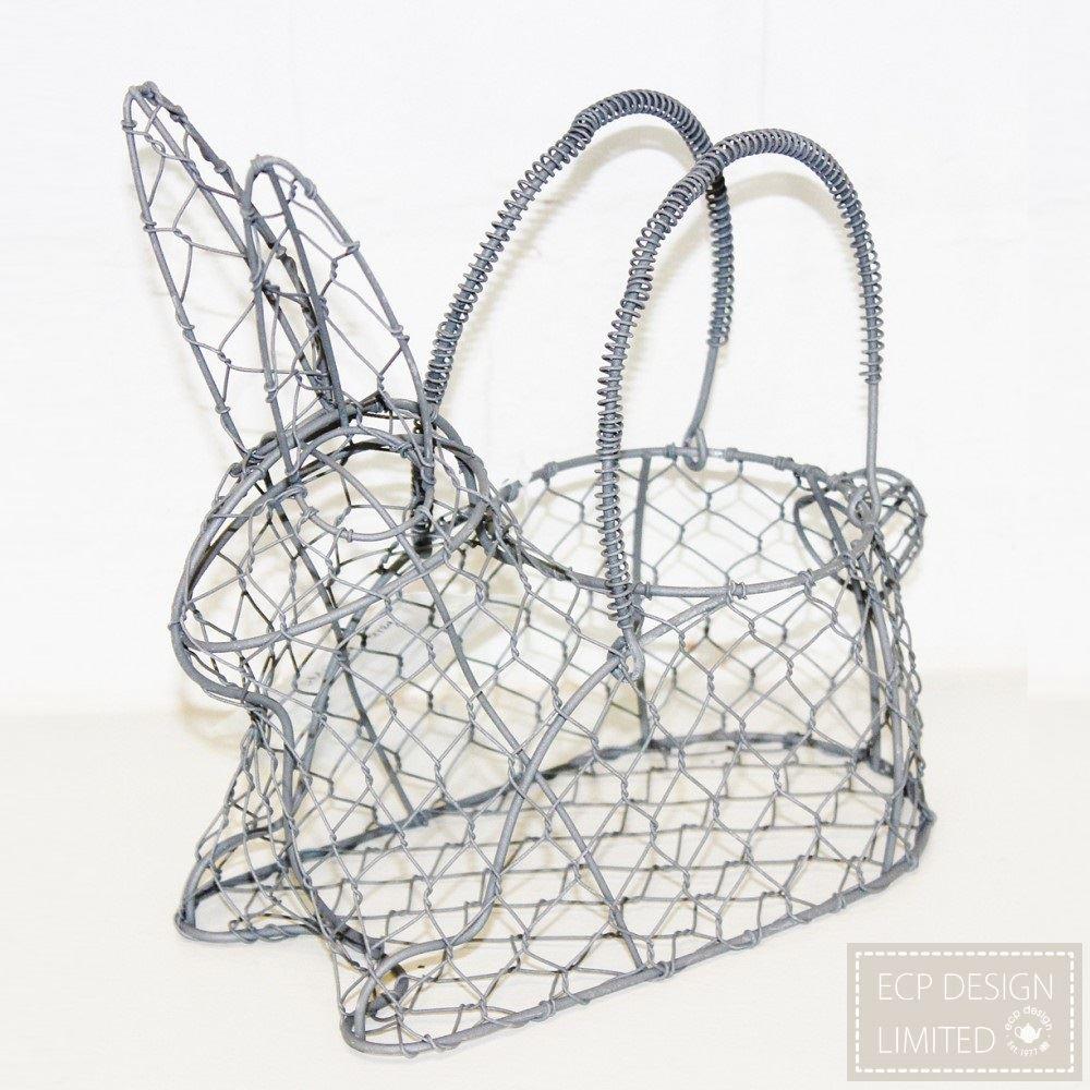 ECP Design Wireware Wire Egg Basket Holder, Rabbit Design ...