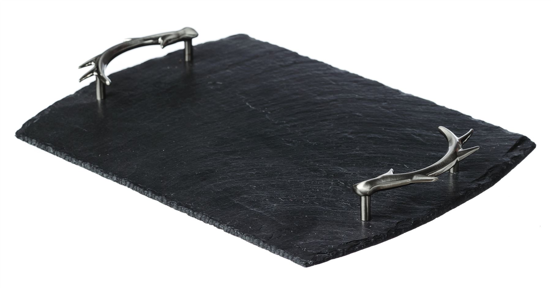 Just Slate Cheese Board Serving Trays with Antler Detail Handles ...