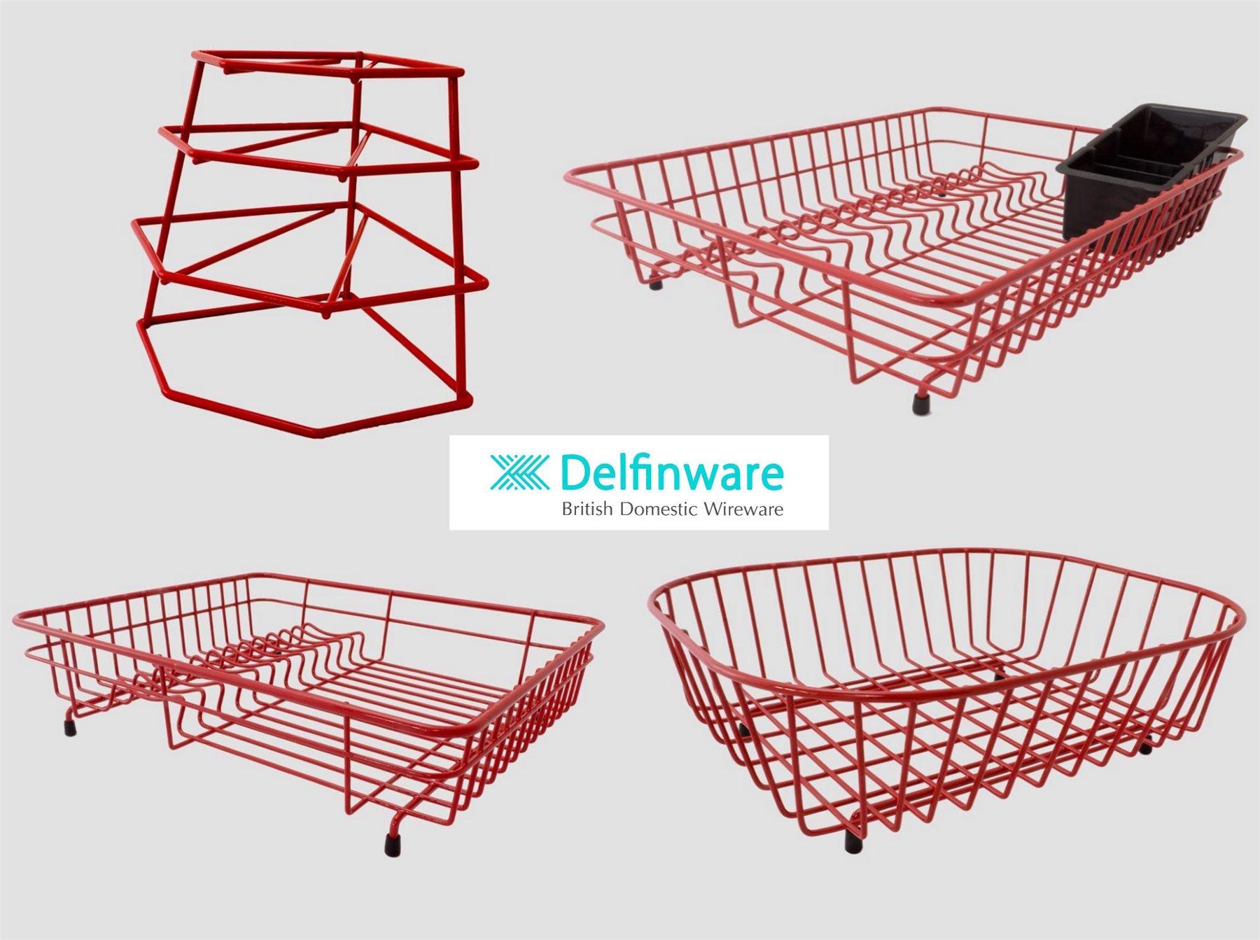 delfinware rot plastik beschichtet stahl draht waschbecken. Black Bedroom Furniture Sets. Home Design Ideas