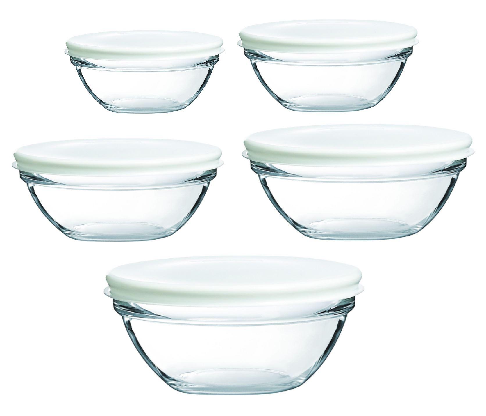 luminarc glas stapel aufbewahrungs sch sseln beh lter mit deckel 12 14 17 20 ebay. Black Bedroom Furniture Sets. Home Design Ideas