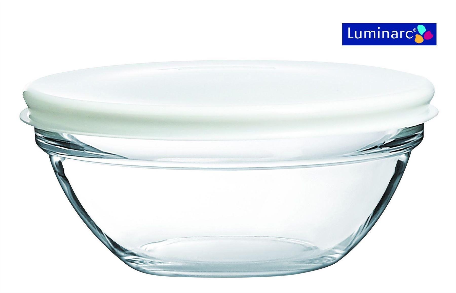 Luminarc-Glass-Stacking-Storage-Bowls-Containers-with-Lid-  sc 1 st  eBay & Luminarc Glass Stacking Storage Bowls Containers with Lid 121417 ...