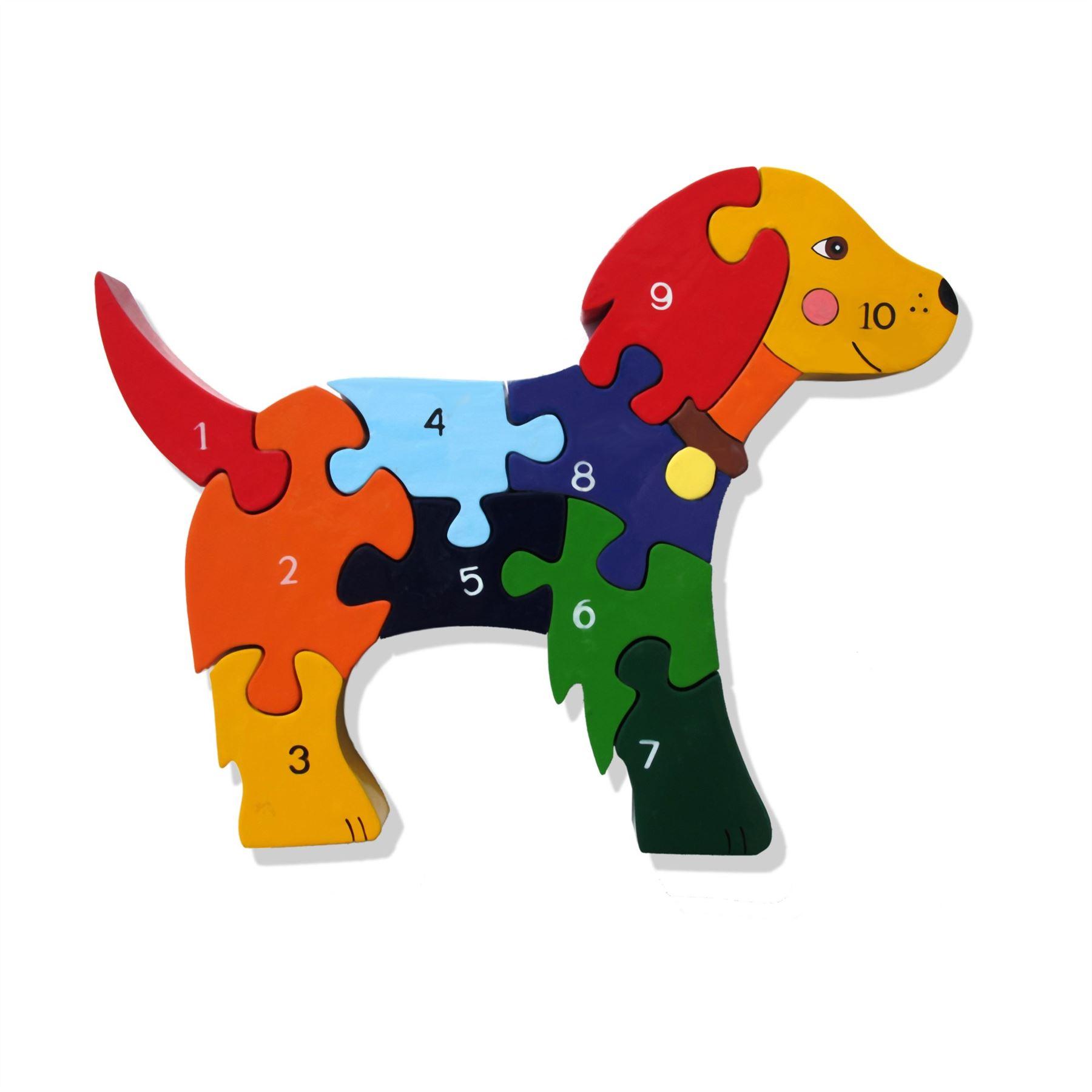 Alphabet Jigsaw Wooden Animal Puzzle In Elephant/Giraffe