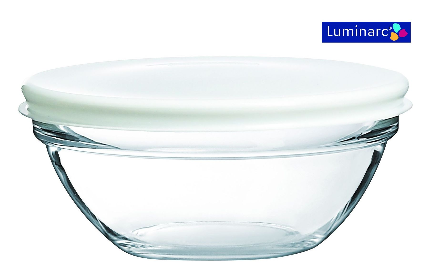 Luminarc Glass Stacking Storage Bowls Containers with Lid ...