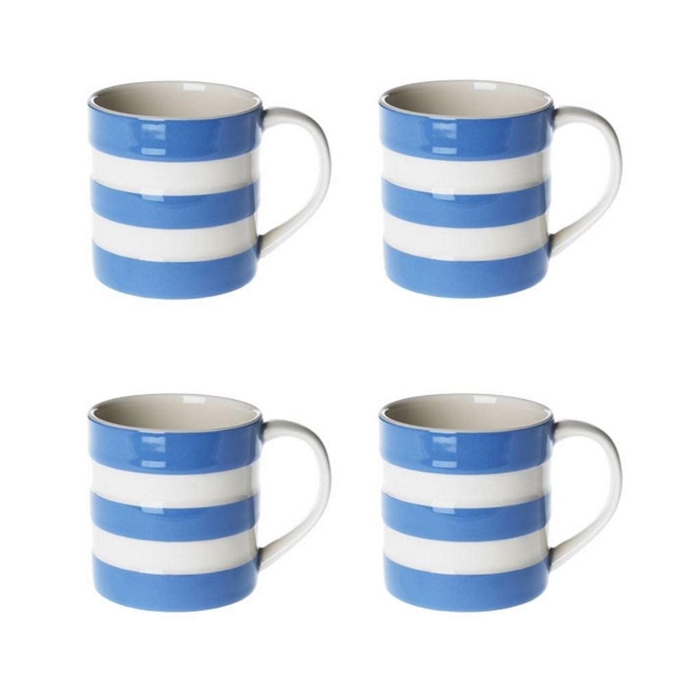 Cornishware Blue & White Stripe Sets of Coffee Cups Mugs ...