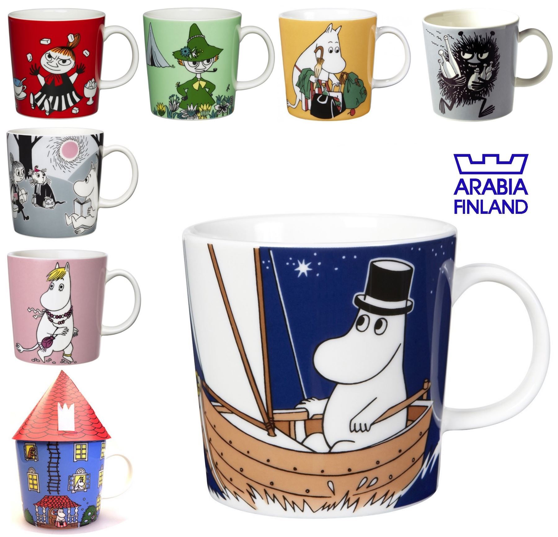 iittala keramik moomin becher tasse eg snorkmaiden moomintroll klein mein ebay. Black Bedroom Furniture Sets. Home Design Ideas