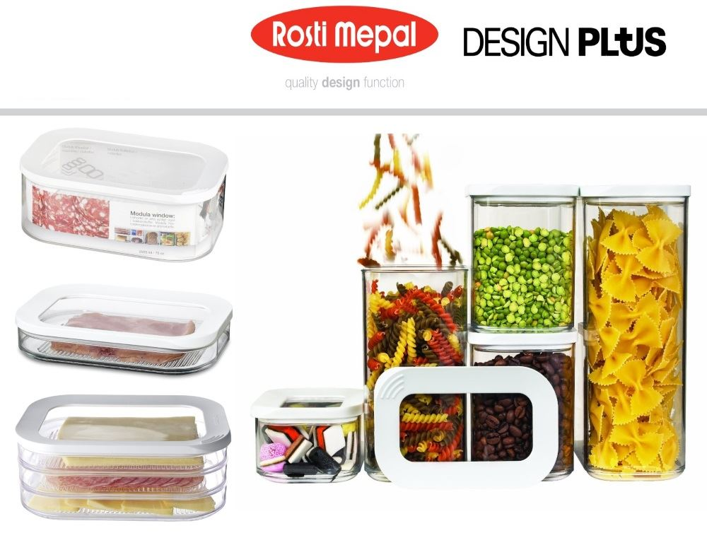 rosti mepal modula airtight storage box boxes container 5 piece or single ebay. Black Bedroom Furniture Sets. Home Design Ideas