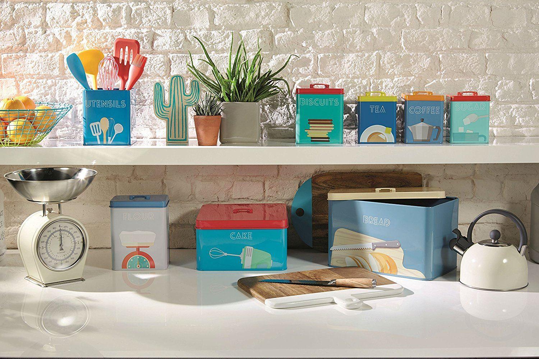 KitchenCraft Retro Art Déco Dose Aufbewahrung Tee Kaffee Zucker oder ...