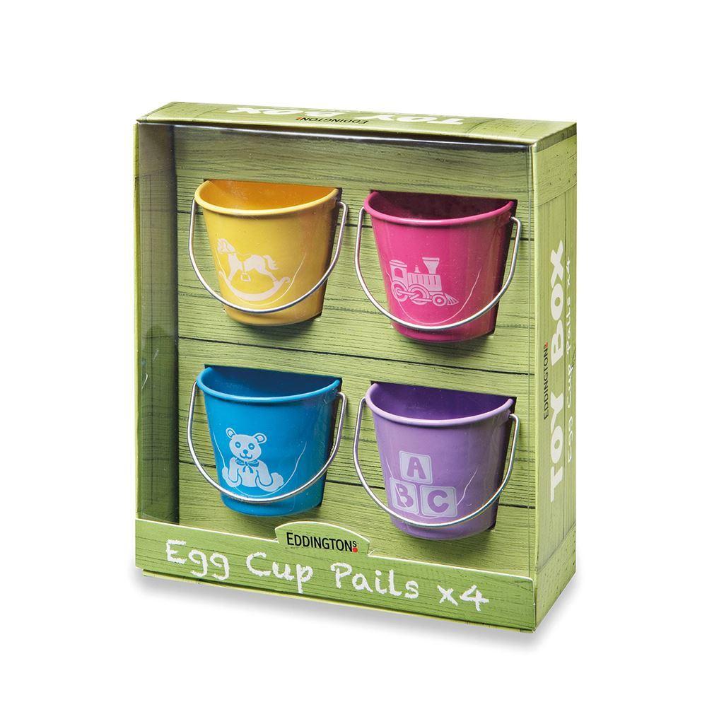 Eddingtons Toy Box Multi Coloured Egg Cup Cups Pails Set