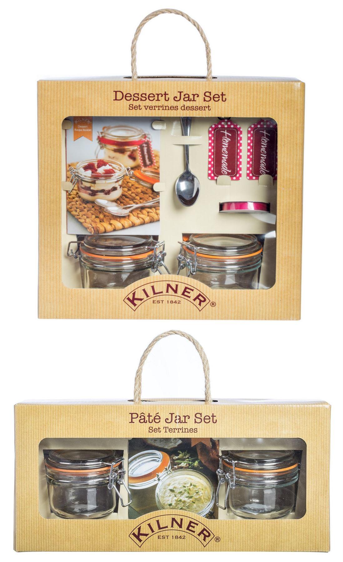 kilner verre dessert pot de confiture ensemble ou t u00eate bocal set cadeau