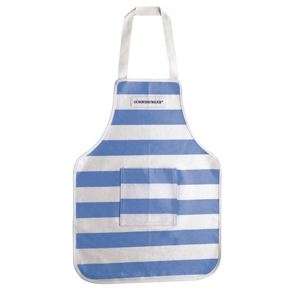 Cornishware Blue & White Stripe Kitchen Apron, Adult