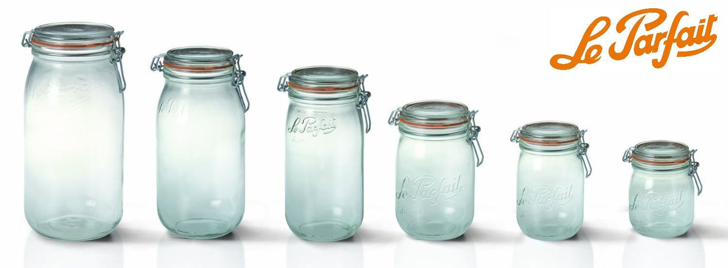 Le Parfait Sealed Glass Storage Preserving Jars In All Sizes With Rubber  Seals