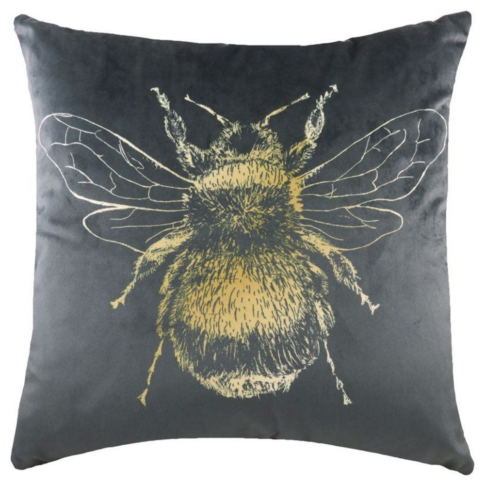 Busy Bee YOU Cushion Cover or Filled 43cm x 43cm by Evans Lichfield Linen Colour