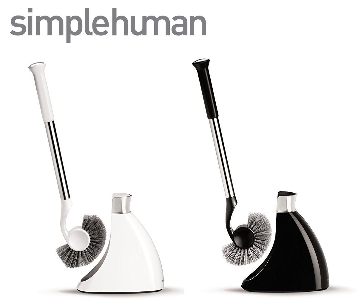 Simplehuman Magnetic Drip Free Toilet Loo Brush Holder Set in Black ...