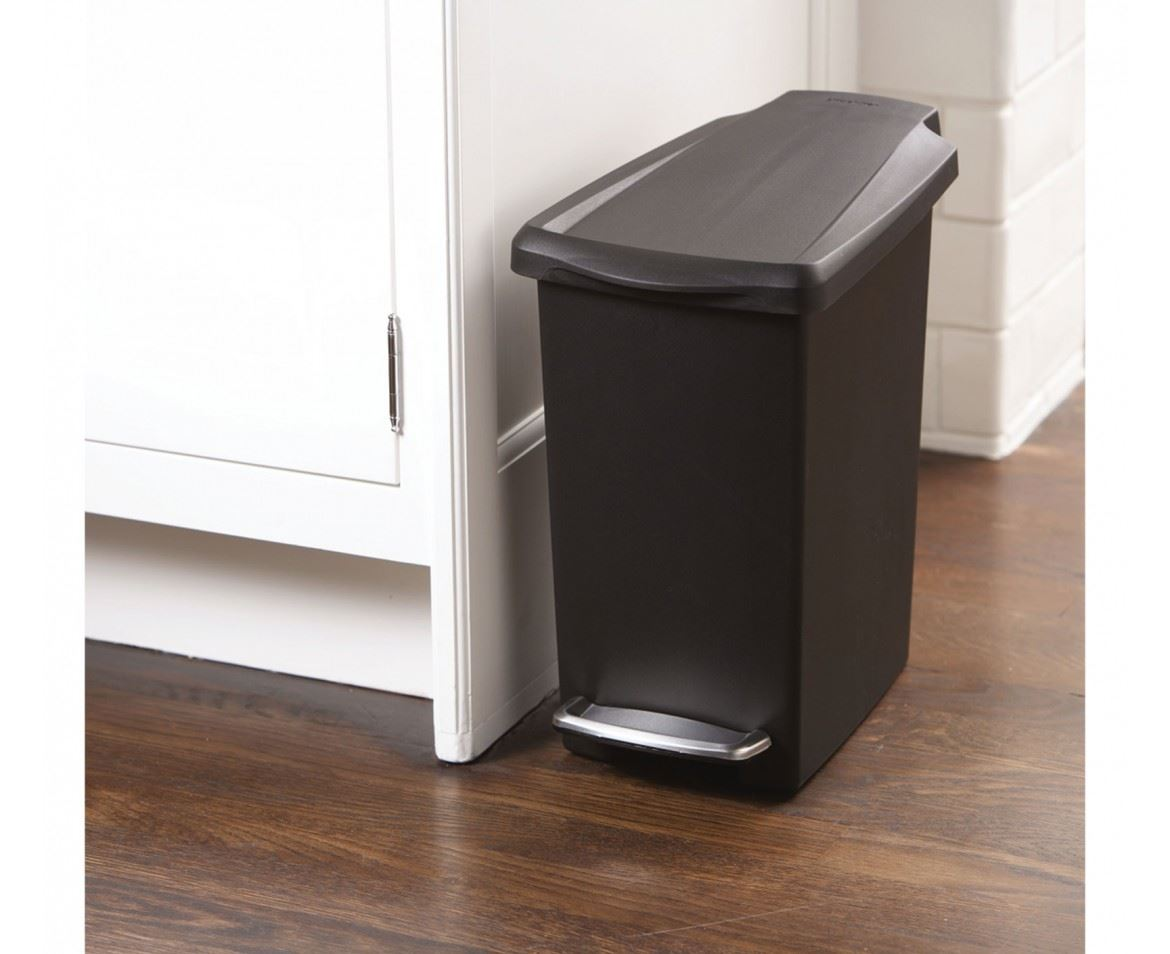 Simplehuman Plastic Slim 10L Or 40L Pedal Waste Bin On