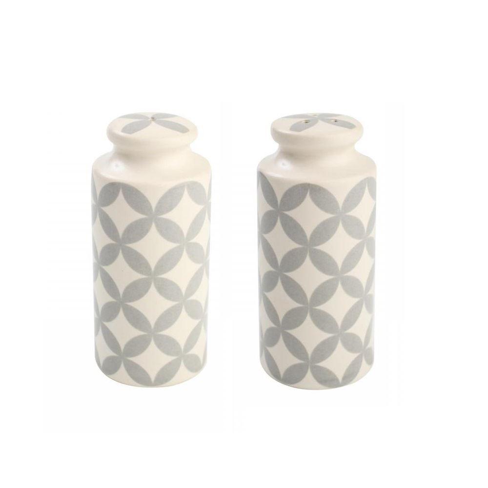 T&G Stadt Keramiks Salz und Pfeffer Schüttler Blumentöpfe grau weiß ...