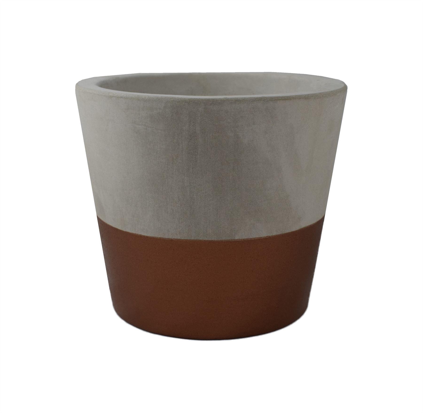 pflanzgefäß pflanze oder blumentopf gold bronze 10cm zement beton