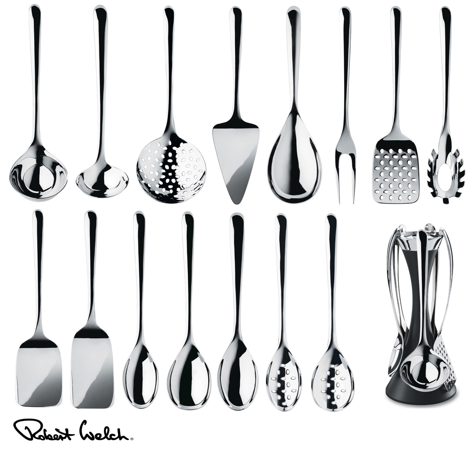 Robert Welch Signature Kitchen Utensils Set, Spoon, Turner