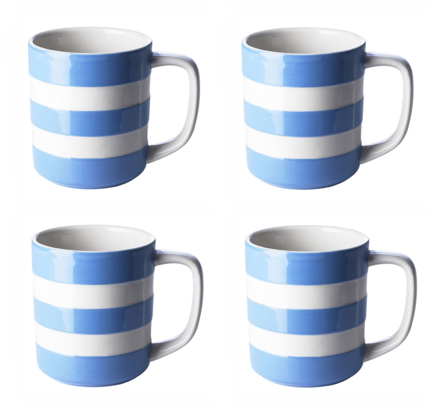 coffee mug sets cornishware blue amp white stripe sets of coffee cups mugs 30017