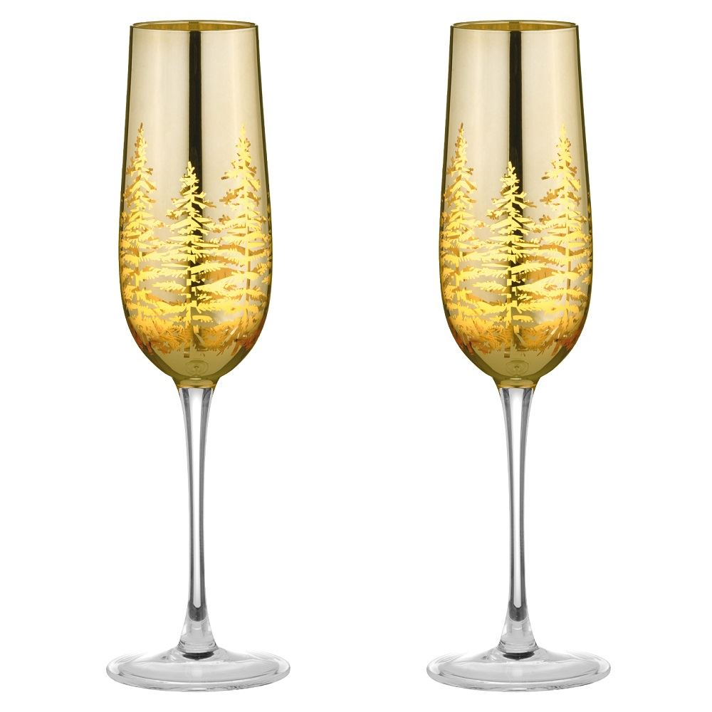Artland Mirage Lustre Iridescent Champagne Flutes Glasses Set of 2  25cl