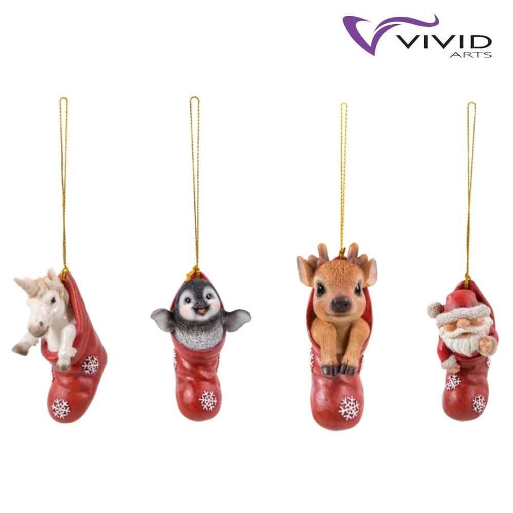 Chihuahua Vivid Arts Tree Decoration Hanging Christmas Stocking Pet Pals