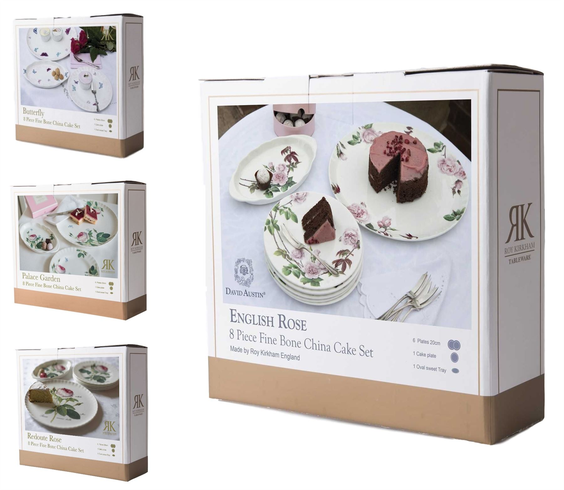 Roy Kirkham feinstes Porzellan Kuchen Portion Geschirr Sets in | eBay
