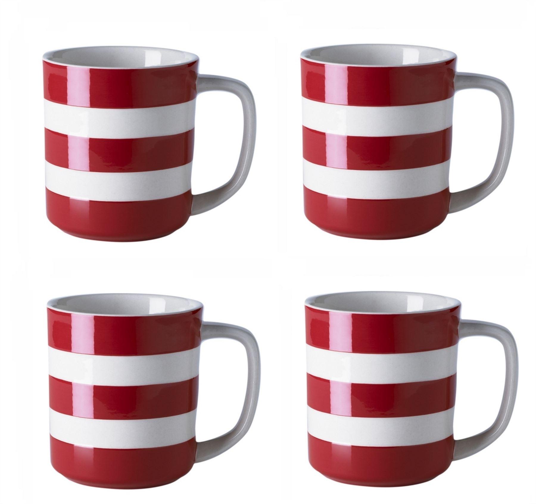 cornishware blue white stripe sets of coffee cups mugs 4oz 6oz