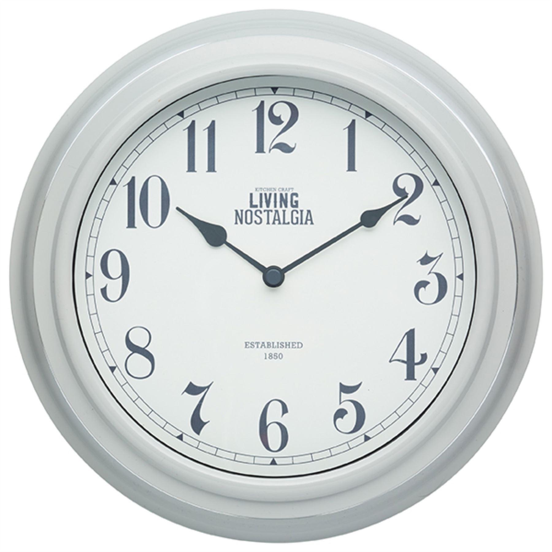 Kitchen Craft Living Nostalgia Wall Clock Clocks in Cream, Green ...