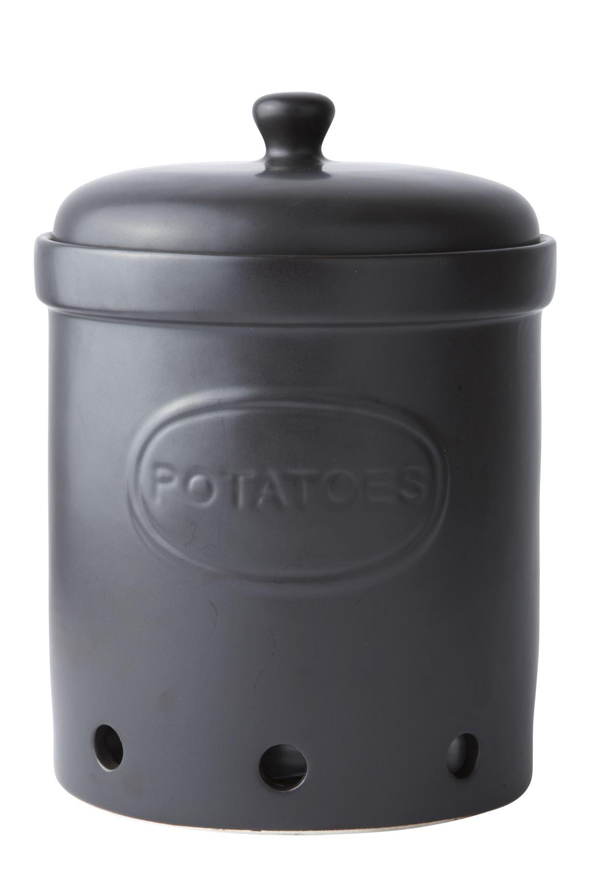 Canisters Kitchen Galzone Ceramic Vegetable Storage Jars Garlic Onion Or