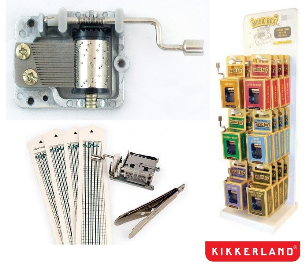 kikkerland crankshaft handheld music boxes or make your own music  - kikkerland crankshaft handheld music boxes or make your own music kit